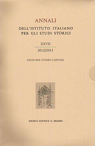 Cover Annali XXVII, 2012/2013